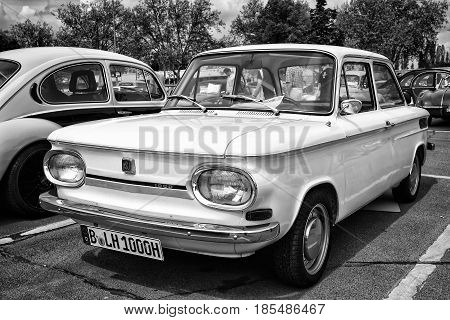 Berlin - May 11: Car Nsu 1000, (black And White), 26Th Oldtimer-tage Berlin-brandenburg, May 11, 201