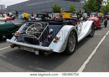 Berlin - May 11: Car Morgan Plus 4, Rear View, 26Th Oldtimer-tage Berlin-brandenburg, May 11, 2013 B