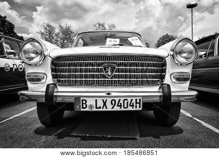 Berlin - May 11: Large Family Car Peugeot 404 (black And White), 26Th Oldtimer-tage Berlin-brandenbu