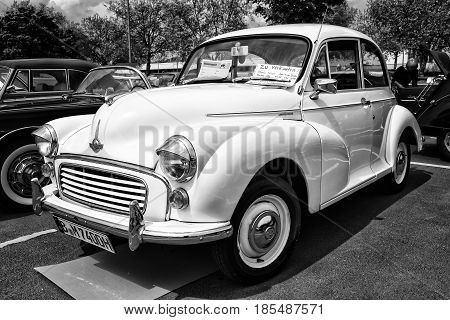 Berlin - May 11: Economy Car Morris Minor 1000 (black And White), 26Th Oldtimer-tage Berlin-brandenb