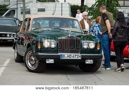 Berlin - May 11: British Luxury Car Rolls-royce Silver Shadow Ii, 26Th Oldtimer-tage Berlin-brandenb