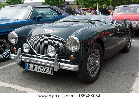 BERLIN - MAY 11: British sports car Austin-Healey 100 26th Oldtimer-Tage Berlin-Brandenburg May 11 2013 Berlin Germany