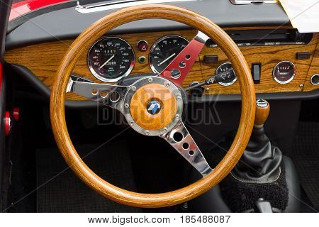 Berlin - May 11: Cab British Sports Car Triumpf Spitfire 1500, 26Th Oldtimer-tage Berlin-brandenburg