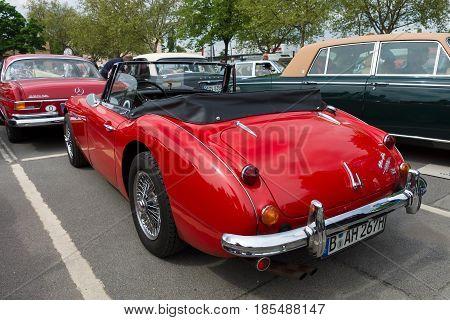 Berlin - May 11: British Sports Car Austin-healey 3000, Rear View, 26Th Oldtimer-tage Berlin-branden