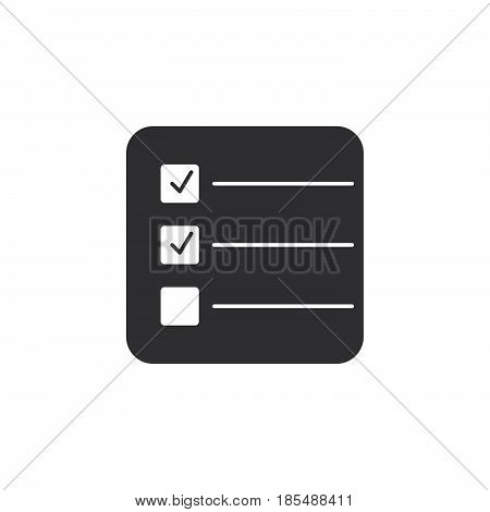 Form Icon Vector, Test Solid Logo Illustration, Checklist Pictogram Isolated On White