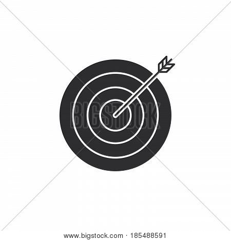 Target Icon Vector, Bullseye Solid Logo Illustration, Pictogram Isolated On White