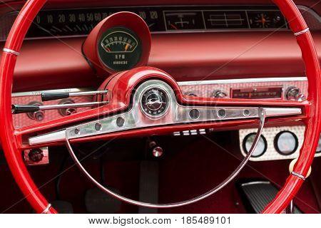 Berlin - May 11: Cab Car Chevrolet Impala Ss Convertible, 26. Oldtimer-tage Berlin-brandenburg, May