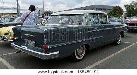 Berlin - May 11: Luxury Car Opel Kapitan, A Rear View, 26Th Oldtimer-tage Berlin-brandenburg, May 11