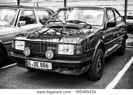 Berlin - May 11: Car Skoda 130 Rapid (black And White), 26Th Oldtimer-tage Berlin-brandenburg, May 1