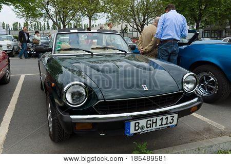 Berlin - May 11: Sport Car Fiat Spider 2000 Pininfarina, 26Th Oldtimer-tage Berlin-brandenburg, May