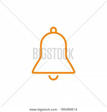 Bell Line Icon, Alarm Outline Vector Logo Illustration, Linear Pictogram Isolated On White