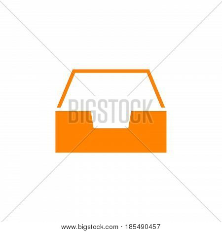 Inbox Icon Vector, Box Solid Logo Illustration, Colorful Pictogram Isolated On White