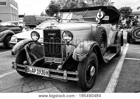 Berlin - May 11: Retro Car Donnet Six (black And White), 26Th Oldtimer-tage Berlin-brandenburg, May