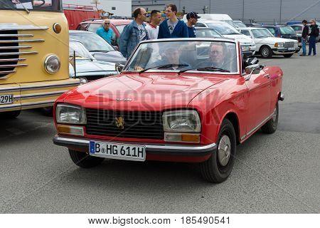Berlin - May 11: A Small Family Car Peugeot 304, 26Th Oldtimer-tage Berlin-brandenburg, May 11, 2013