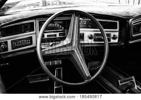 Berlin - May 11: Cab Buick Riviera Gs Stage I (black And White), 26Th Oldtimer-tage Berlin-brandenbu