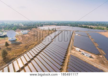 Solar panels Photovoltaic systems - aerial view. Solar power panels. Solar power panels aerial. Solar power panels eco. Solar power panels farm. Solar power panels field.