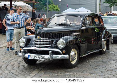 BERLIN - MAY 11: German Luxury car Opel Kapitan 26th Oldtimer-Tage Berlin-Brandenburg May 11 2013 Berlin Germany