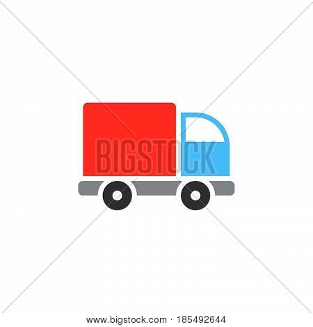 Lorry Icon Vector, Truck Solid Logo Illustration, Colorful Pictogram Isolated On White