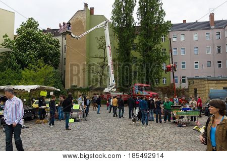 Berlin - May 11: Visitors At The Exhibition, 26Th Oldtimer-tage Berlin-brandenburg, May 11, 2013 Ber