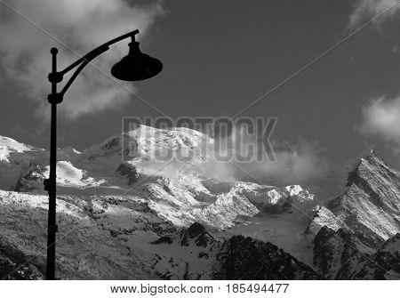 Mont Blanc in Haute Savoie, France, Europe
