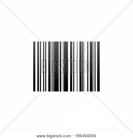 Barcode Icon Vector, Solid Logo Illustration, Pictogram Isolated On White