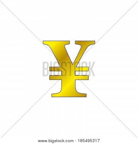 Japanese Yen Symbol. Vector Sign, Solid Logo Illustration, Colorful Pictogram Isolated On White