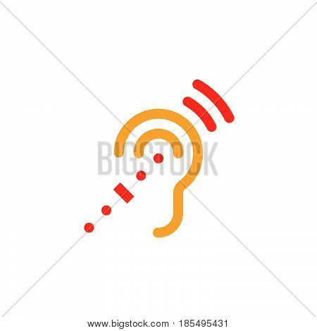 Assistive Listening Systems Symbol. Deafness Line Icon, Outline Vector Logo Illustration, Linear Pic