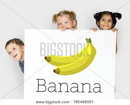 Natural ripe banana fruit potassium