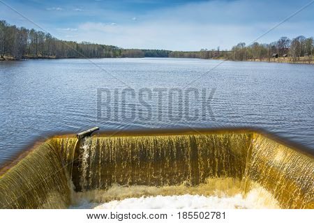 Discharge Of Water To The Reservoir.
