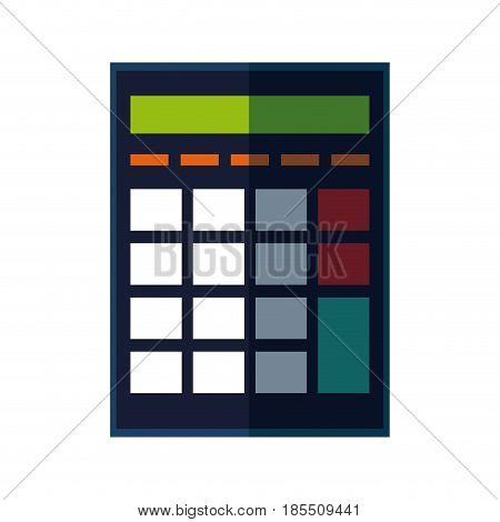 calculator investigate research rates accountant vector illustration