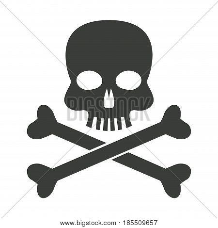 skull bones danger poison laboratory vector illustration