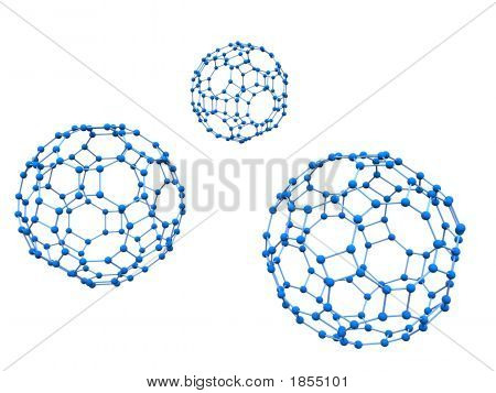 Three Blue Molecule