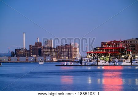 Inner Harbor Area In Downtown Baltimore