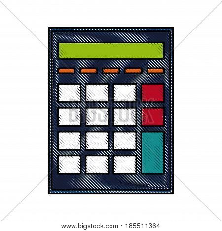 drawing calculator investigate research rates vector illustration