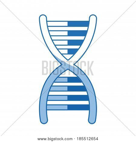 dna molecule chromosome biology genetic shadow vector illustration