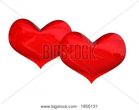 Two Heart 3D Rendering