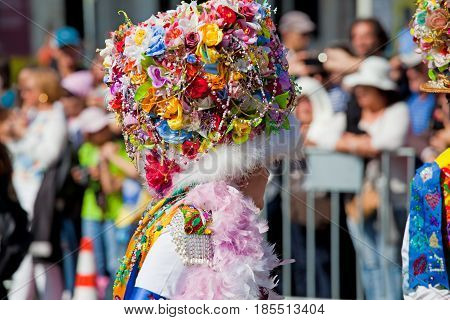 Lisbon, Portugal - May 6, 2017: Parade Of Costumes And Traditional Masks Of Iberia At The Xii Intern