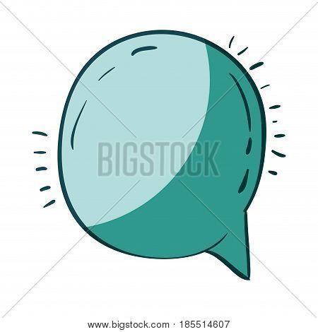 aquamarine hand drawn of round speech vector illustration