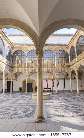 Vazquez de Molina Palace (Palace of the Chains) courtyard cloister Ubeda Spain