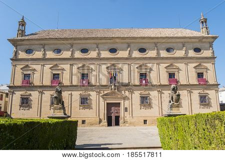 Vazquez de Molina Palace (or Palace of the Chains) nowadays the city hall Ubeda Spain