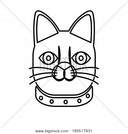 japanese lucky cat symbolic talisman toy tradition line vector illustration