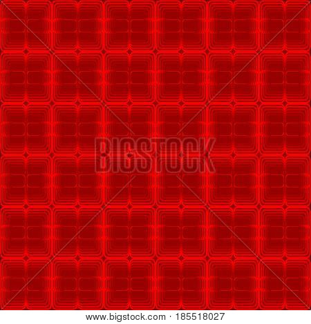 Crimson abstract background composed of squares, optical art wallpaper, vector EPS 10
