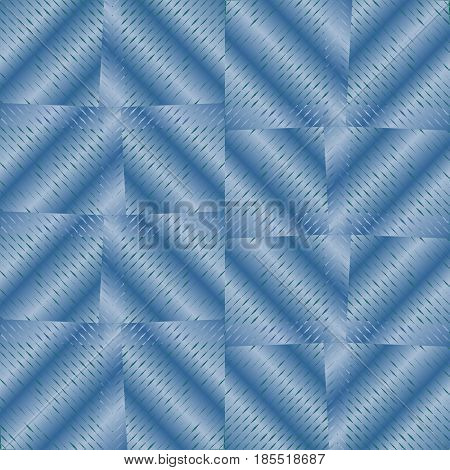 Abstract background with blue checker patterns in metallic design, 3d optical art illusion, vector EPS 10