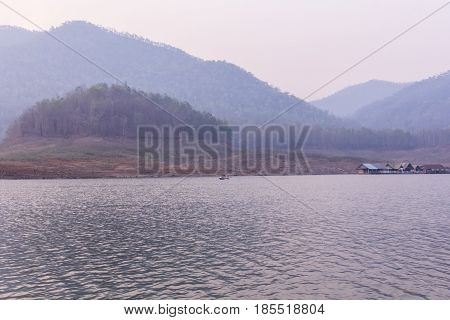 people paddling in Maengad dam, Chiangmai Thailand