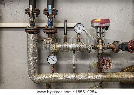 Detail Of Heat Substations Interior
