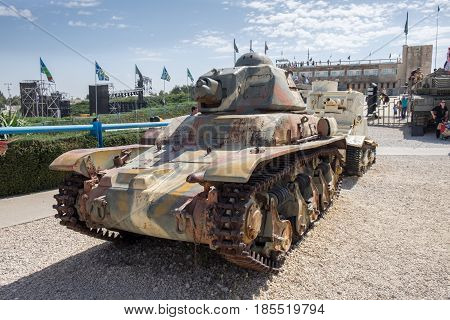 Renault R35 Tank At Latrun Armored Corps Museum
