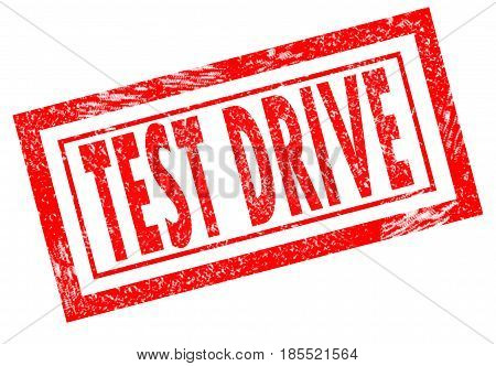 test drive stamp on white background. test drive stamp sign.