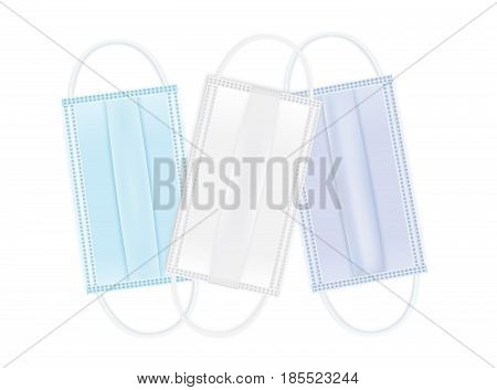 Medical shielding bandage multi color isolated on white.