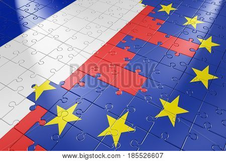 Puzzle European Union And France