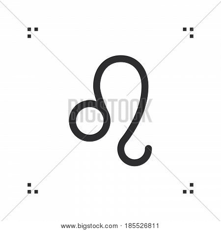 Leo Zodiac Vector Sign, Horoscope Symbol, Astrology Line Icon, Linear Logo Illustration Isolated On